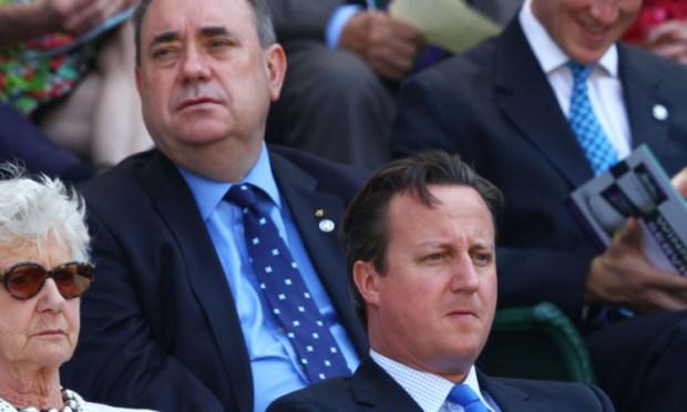 Different views: Alex Salmond and David Cameron.