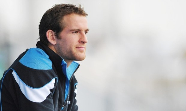Glasgow Warriors Rory Lamont during the press conference at Scotstoun Stadium, Glasgow.