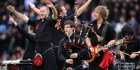 The Red Hot Chilli Pipers entertain the Murrayfield crowd