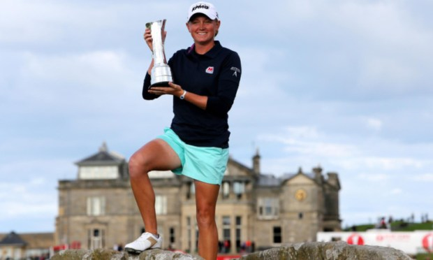 Stacy Lewis claimed the trohpy at the Old Course.