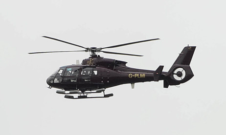 A helicopter carrying the SPL trophy on the final day of the season in 2011. There will be a similar effort for the Championship on Saturday.