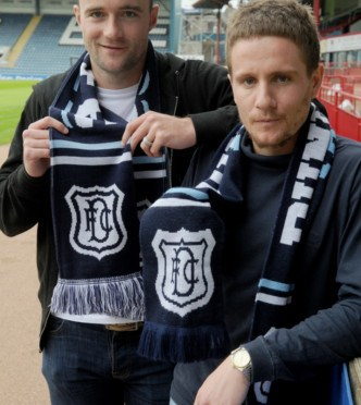 Gordon Robbie Evening Telegraph  Dundee FC James McPake and Steven Ferry