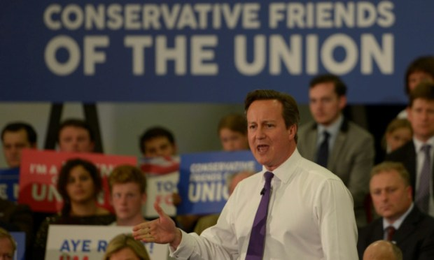 Prime Minister David Cameron MP addresses party activists in Perth.
