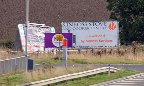 Fife Council said no thanks to the adverts but political signs are exempt from planning permission.
