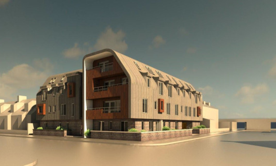 An artists impression of the proposed flats at Brook Street.
