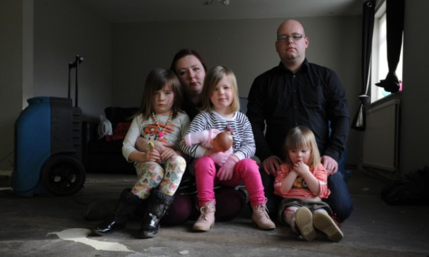 The Denny family are in dispute with insurers Direct Line.