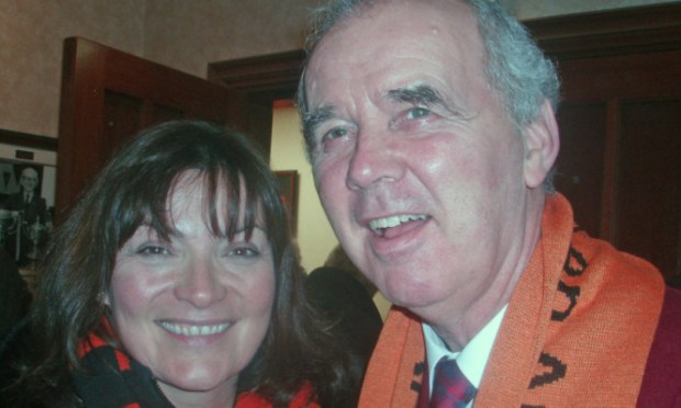 Lorraine Kelly with the late Dundee United star Frank Kopel.