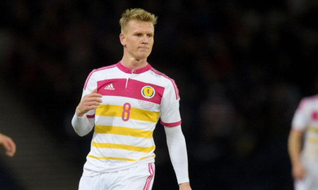 Matt Ritchie makes his debut for Scotland.