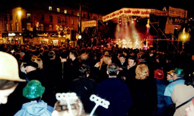 A City Square party welcoming the new millennium in 2000.