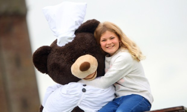 Heidi Crowhurst and one of the bears.