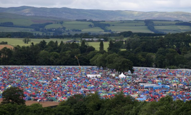 Andrew West's body was found in the campsite at T in the Park.