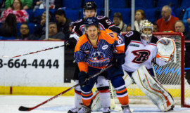 Canadian forward TJ Caig, front, moves to Kirkcaldy from Tulsa Oilers.