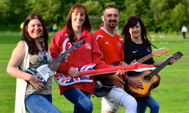 The organising committee were inspired by Blues events in Dundee and Arbroath. From left: Susan Millar, Steph Robinson, Dean McConnachie and Linsey McConnachie.