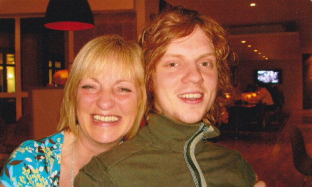 Campaigning mum Sandra Ramsay and her late son, Ross.