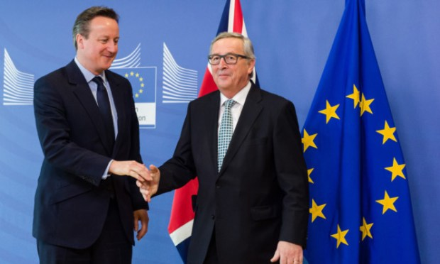 Prime Minister David Cameron and European Commission president Jean-Claude Juncker.