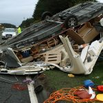 VIDEO: Dashcam shows caravan crash on A90 north of Dundee