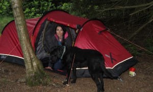 Gayle Ritchie and her dog Toby enjoy wild camping on the banks of Loch of Lintrathen.