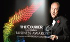 Host Gyles Brandreth at the inaugural Courier Business Awards in 2013.