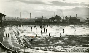 January 1957: More wintry scenes at Dens.