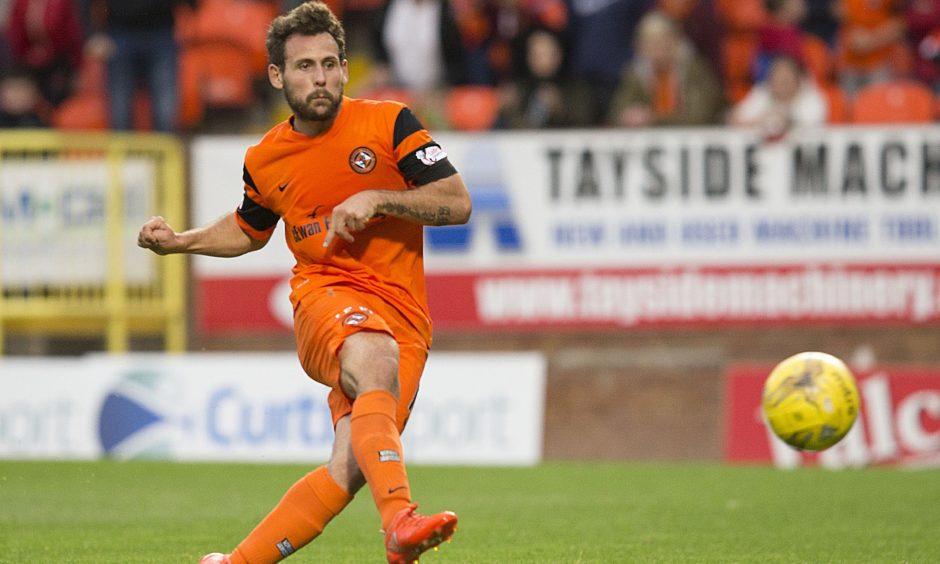 23/09/16 LADBROKES CHAMPIONSHIP    DUNDEE UTD v MORTON    TANNADICE    Dundee United's Tony Andreu scores his second goal