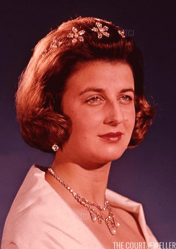 Alexandra wears the original hair ornaments, ca. 1956