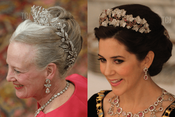 The Danish Floral Aigrette and the Danish Ruby Parure Tiara