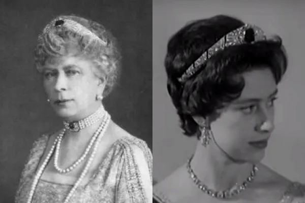 Queen Mary and Princess Margaret both wear the bandeau