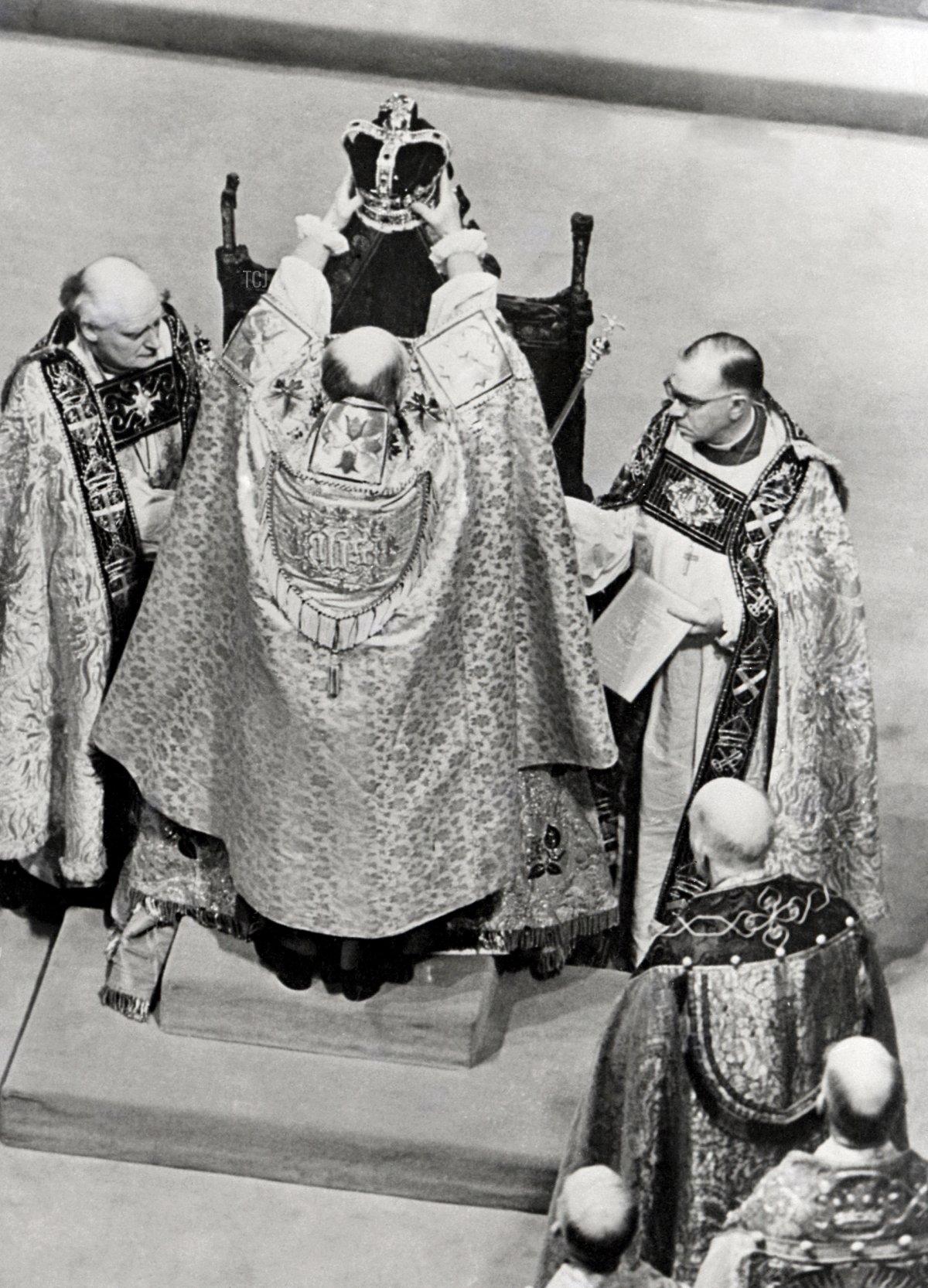 A picture of the coronation of the Queen Elizabeth II, taken 02 June 1953 in Westminster Abbey, London