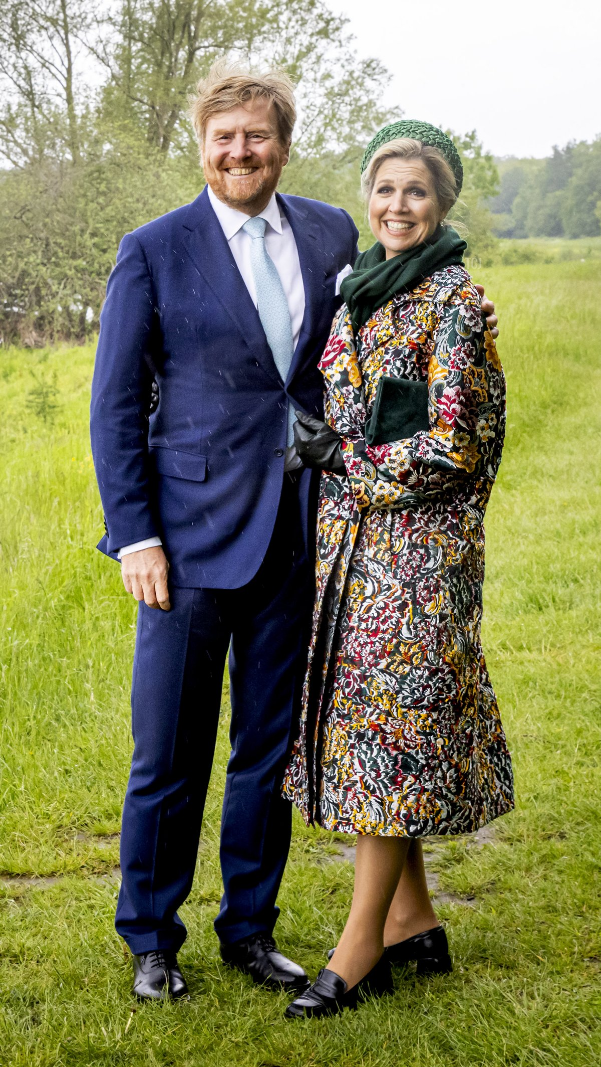 King Willem-Alexander of The Netherlands and Queen Maxima of The Netherlands visit Nationaal Park de Maasduinen during their region visit to North-Limburg on May 27, 2021 in Venlo, Netherlands