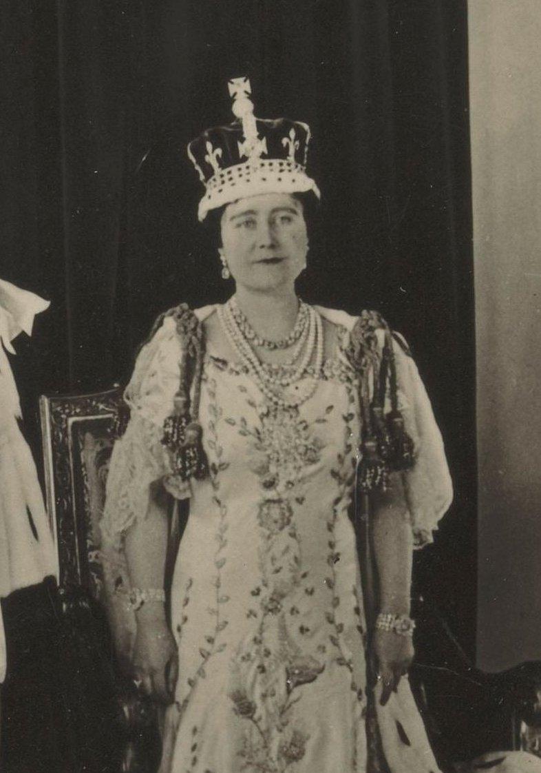Queen Elizabeth at her coronation, 1937
