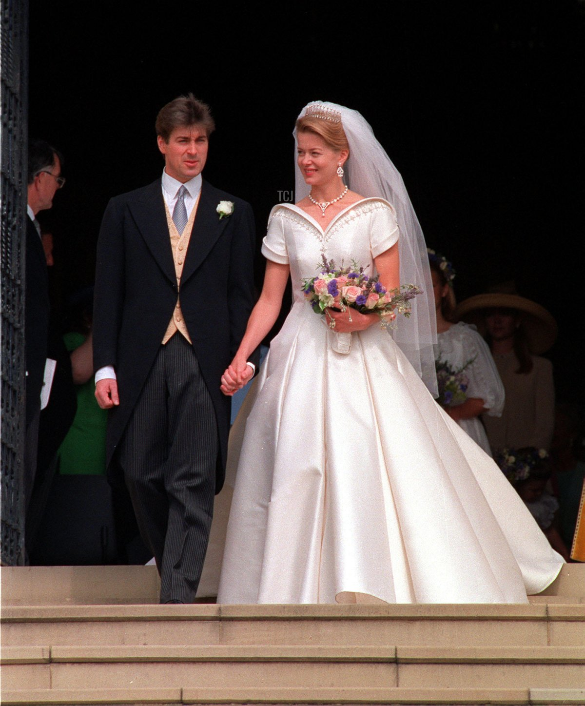 Timothy Taylor and Lady Helen Windsor on their wedding day, July 1992