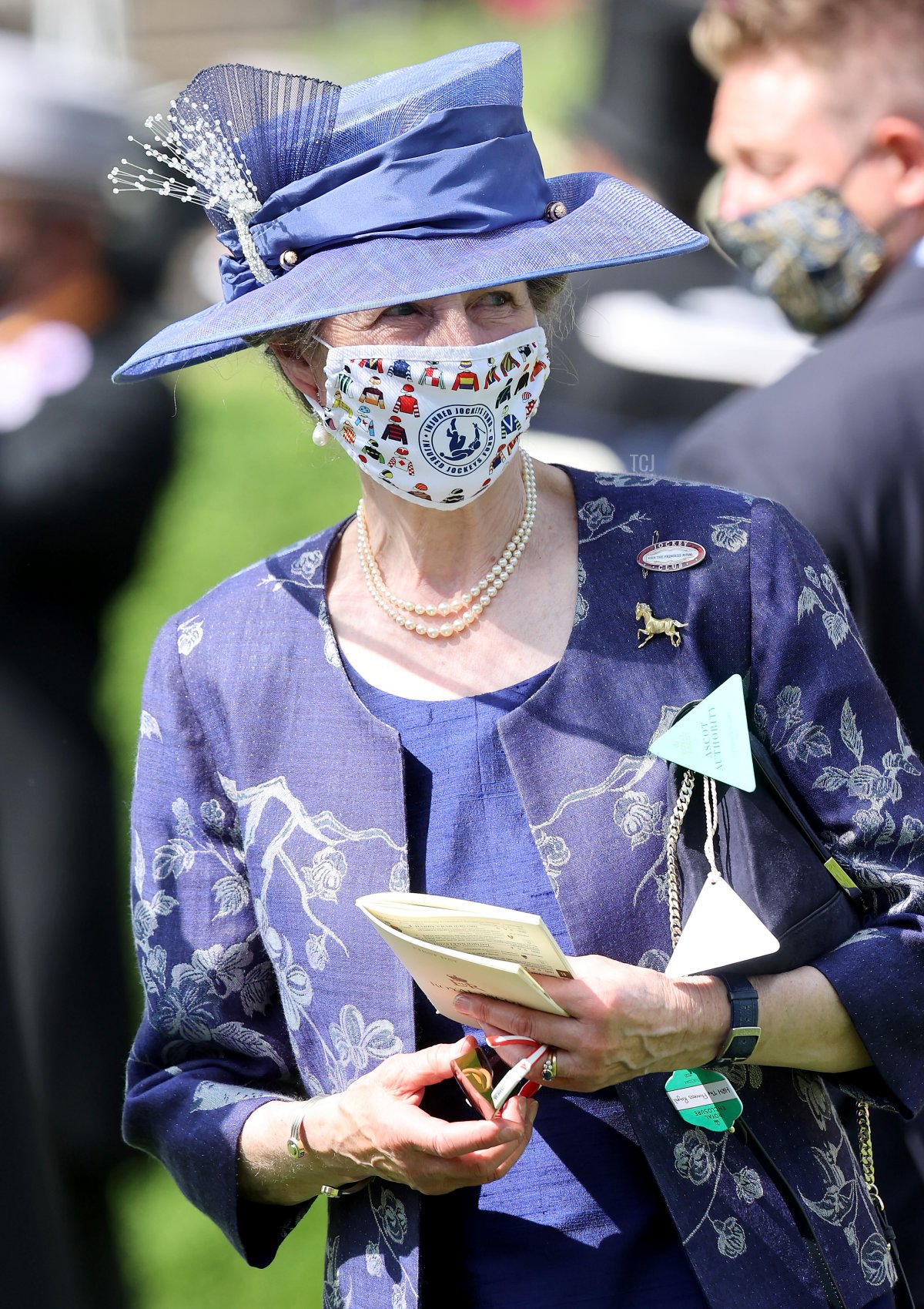 Princess Anne, Princess Royal arrives for Royal Ascot 2021 at Ascot Racecourse on June 15, 2021 in Ascot, England