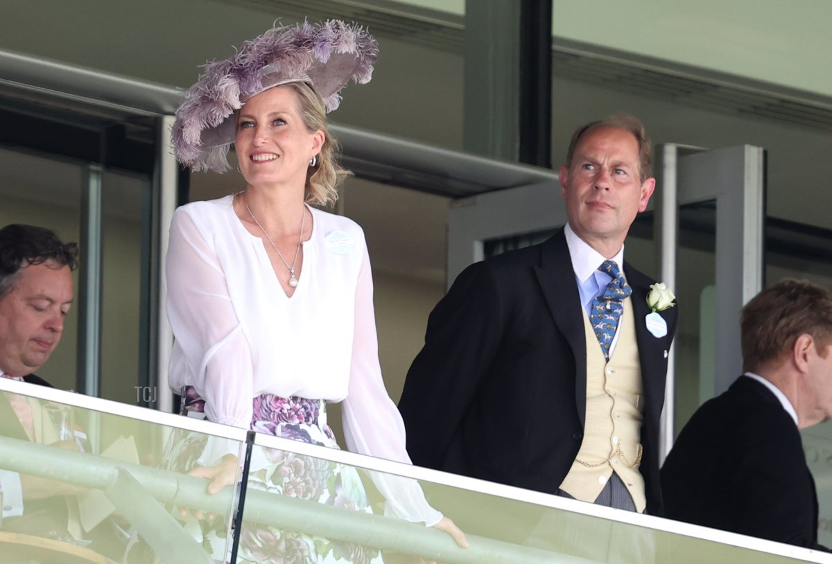 Sophie, Countess of Wessex and Prince Edward, Earl of Wessex attend Royal Ascot 2021 at Ascot Racecourse on June 16, 2021 in Ascot, England