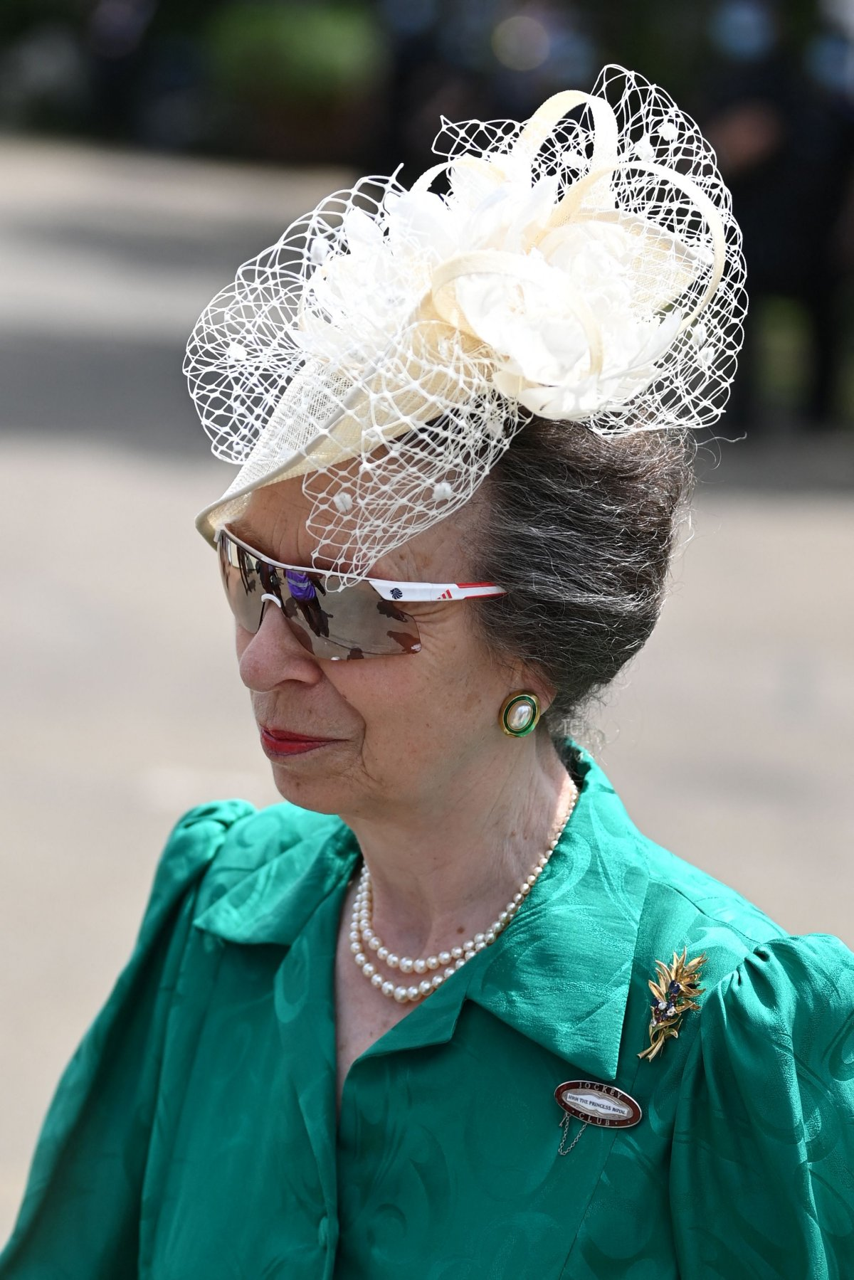 Britain's Princess Anne, Princess Royal arrives on the second day of the Royal Ascot horse racing meet, in Ascot, west of London on June 16, 2021