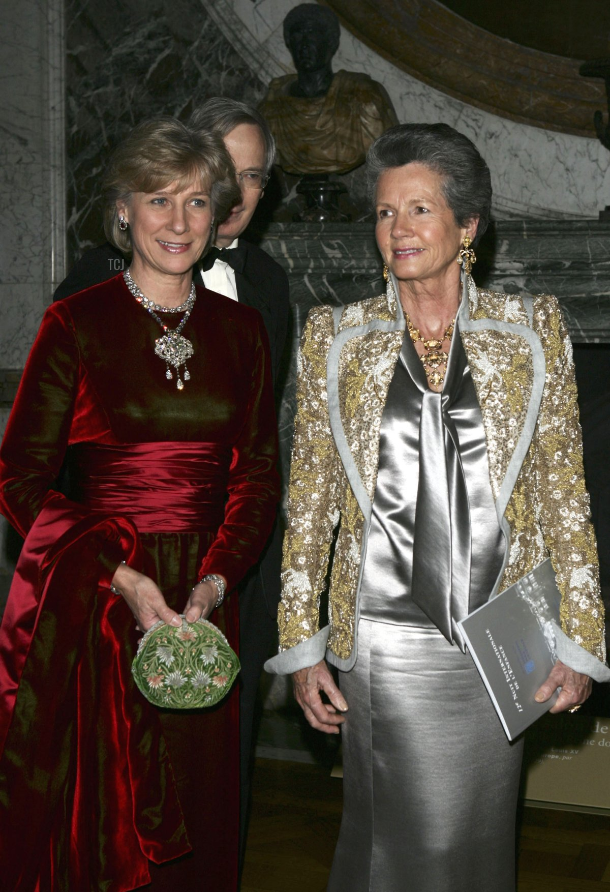 The Duchess of Gloucester and Anne-Aymone Giscard d'Estaing attend the Child Abuse Foundation Gala at the Castle of Versailles on December 6, 2004 in Versailles, France