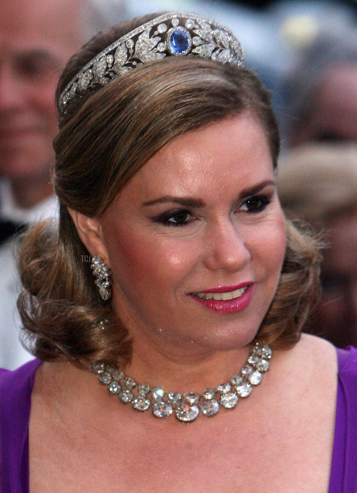 Grand Duchess Maria Teresa of Luxembourg arrives to a concert and reception at the Nordic Museum in Stockholm on the second day of a three day state visit on April 16, 2008 in Stockholm, Sweden