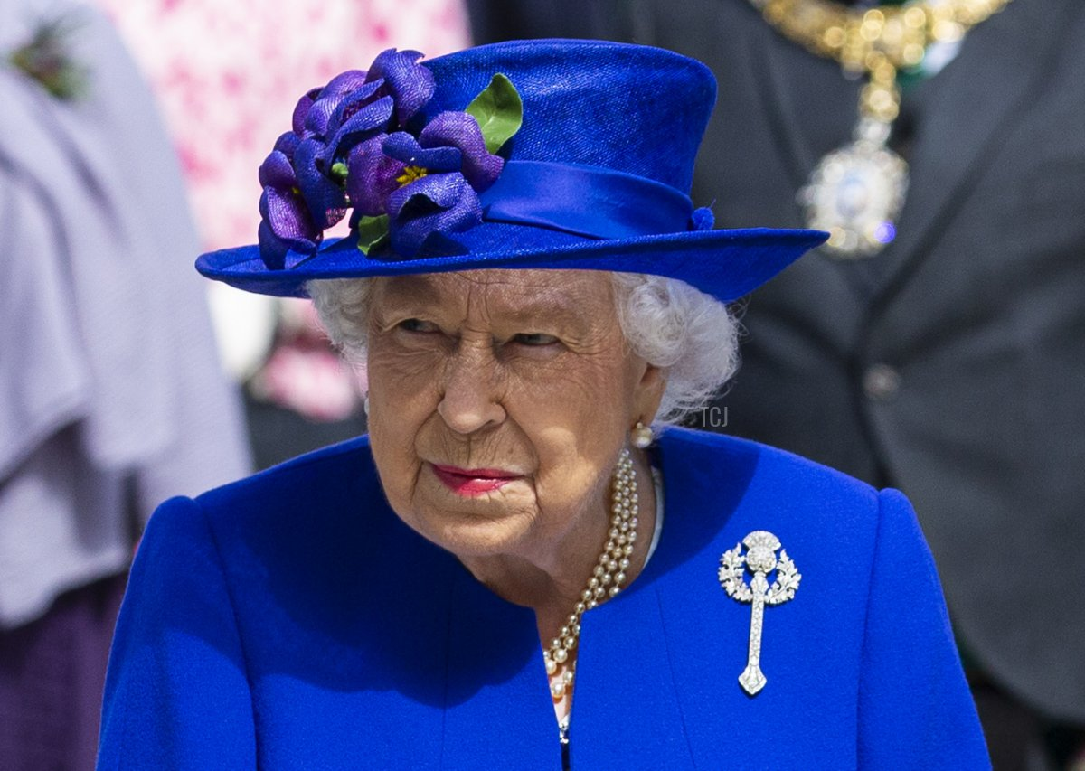Her Majesty Queen Elizabeth II attends the Scottish Parliaments 20th Anniversary on June 29, 2019 in Edinburgh, Scotland