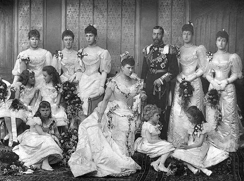 The Duke of York and Princess May of Teck on their wedding day, 1893