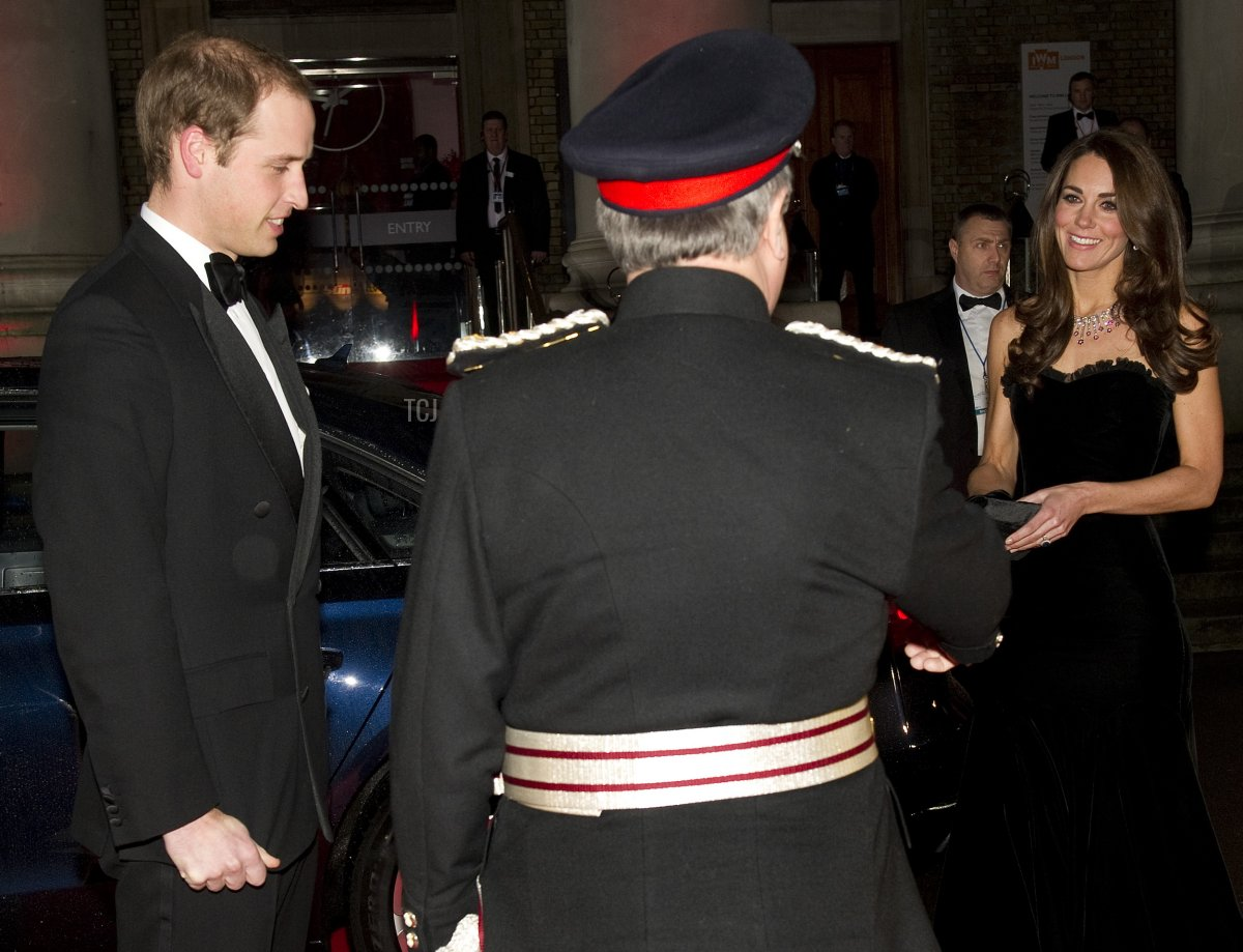 Prince William (L) and Duchess of Cambridge (R) arrive at the 2011 Sun Military Awards at Imperial War Museum on December 19, 2011 in London