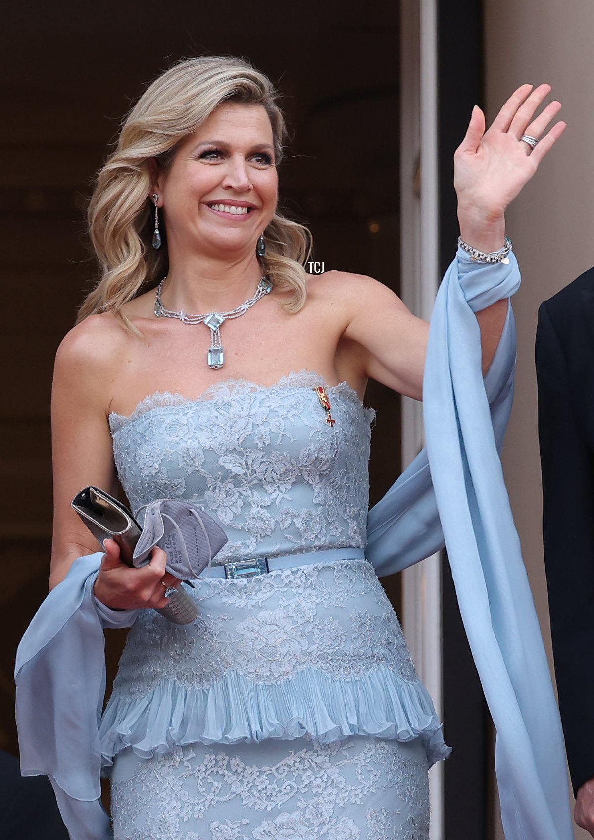 King Willem-Alexander and Queen Maxima of the Netherlands arrive at the Konzerthaus am Gendarmenmarkt on July 06, 2021 in Berlin, Germany
