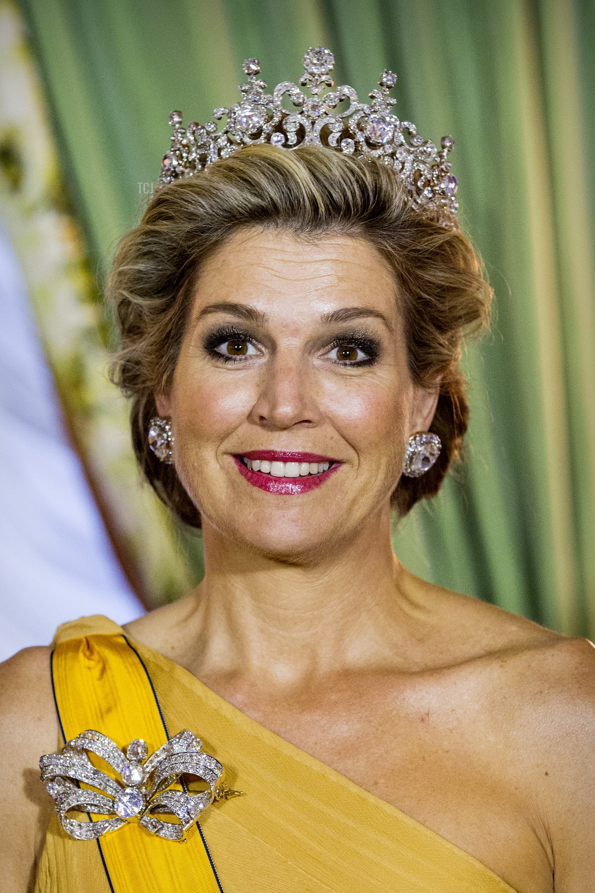 Queen Maxima of The Netherlands during the official picture at the state banquet in the Grand Ducal Palace on May 23, 2018 in Luxembourg