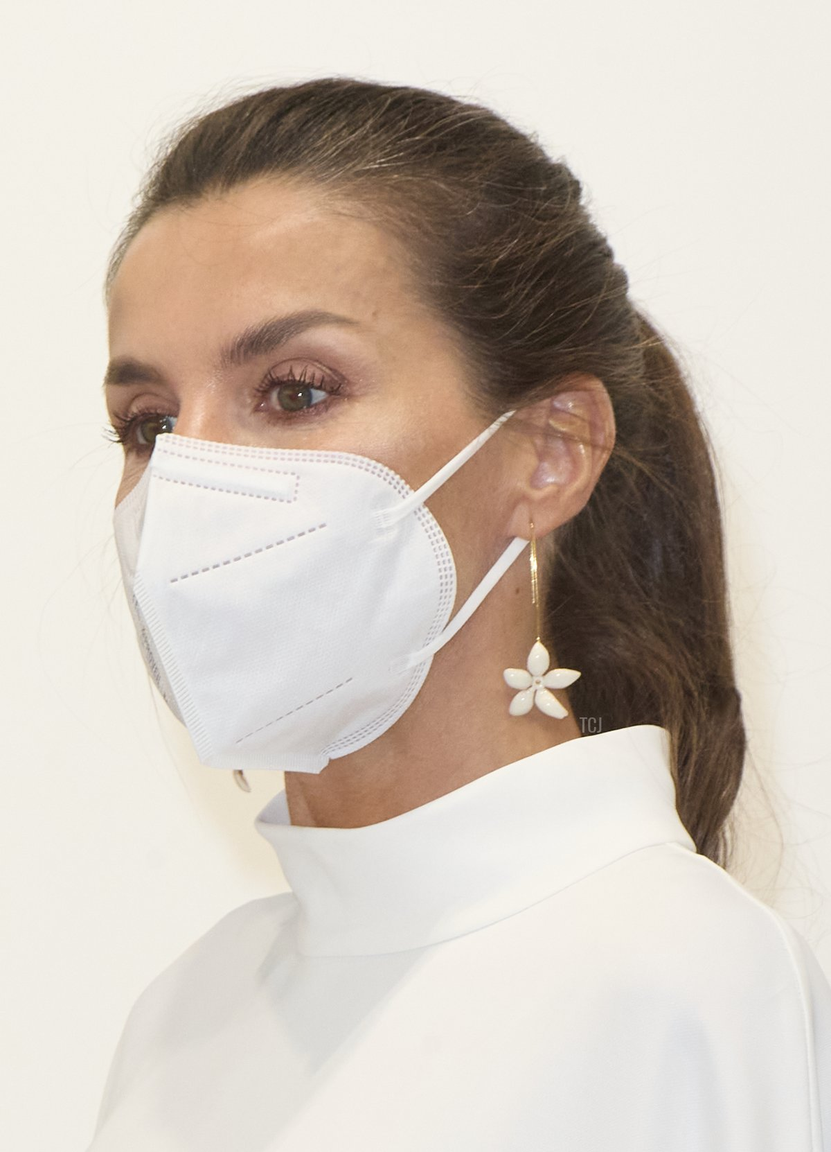Queen Letizia of Spain attends the opening of ARCO 2021 (Contemporary Art Fair) at Ifema on July 08, 2021 in Madrid, Spain