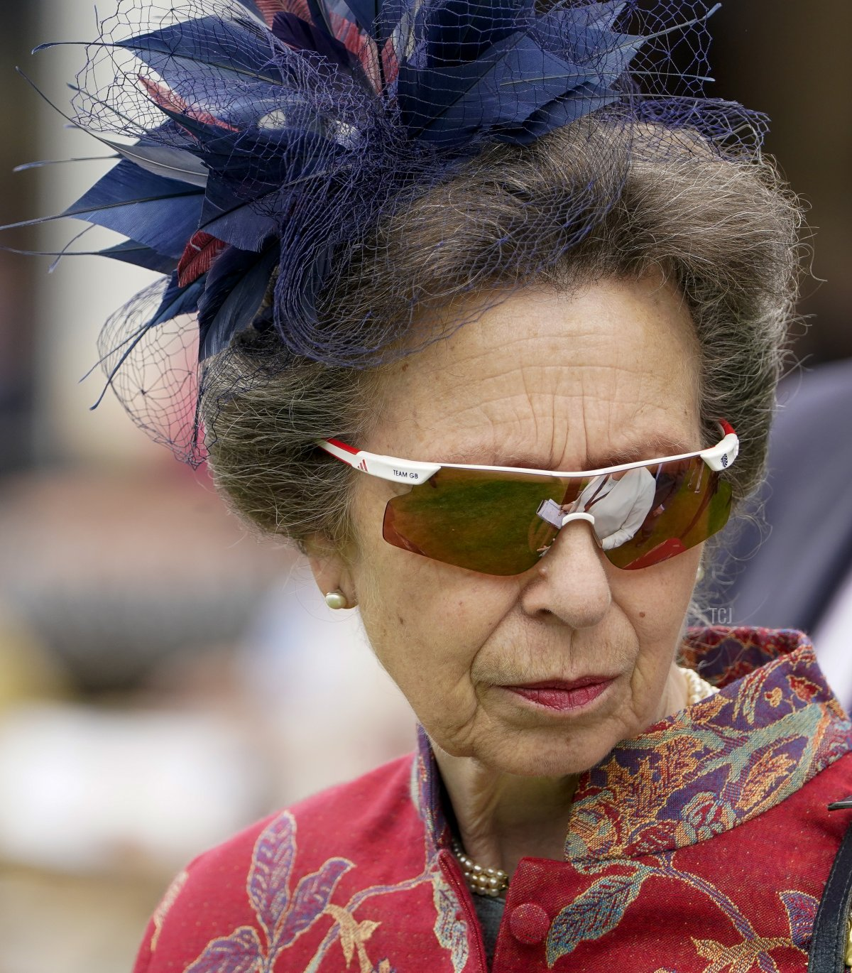 The Princess Royal attends the meeting at Newmarket Racecourse on July 08, 2021 in Newmarket, England