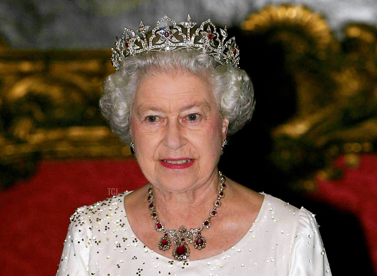 Britain's Queen Elizabeth II attends a State Banquet at the Palace in Malta, Wednesday 23 November 2005