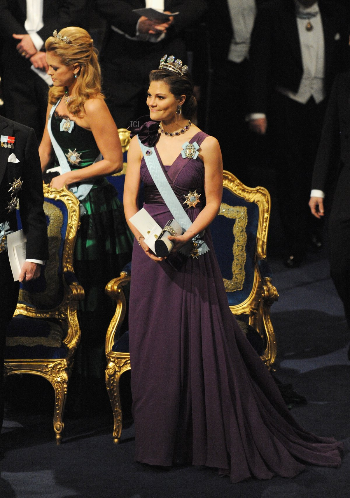 Crown Princess Victoria of Sweden attends the Nobel Foundation Prize Awards Ceremony and Banquet on December 10, 2009 in Stockholm, Sweden