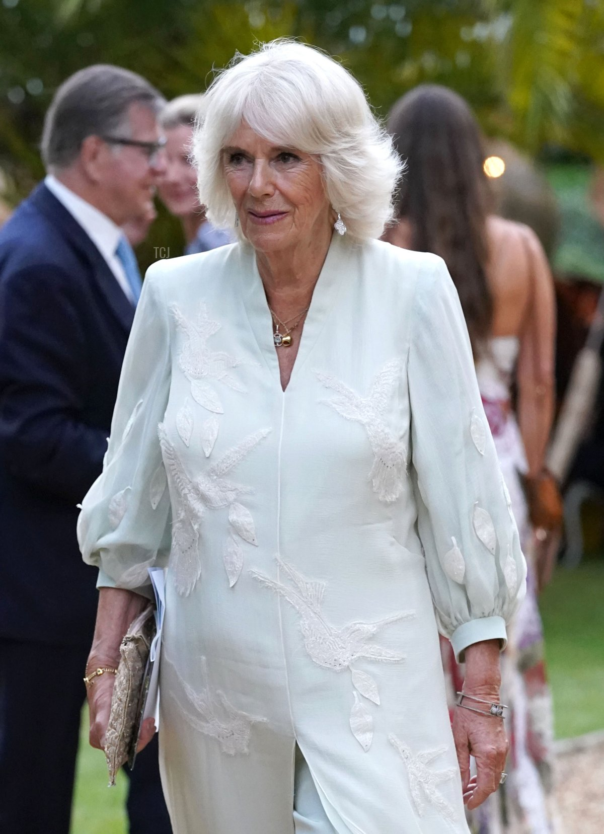 """Camilla, Duchess of Cornwall attends the """"A Starry Night In The Nilgiri Hills"""" event hosted by the Elephant Family in partnership with the British Asian Trust at Lancaster House on July 14, 2021 in London, England"""