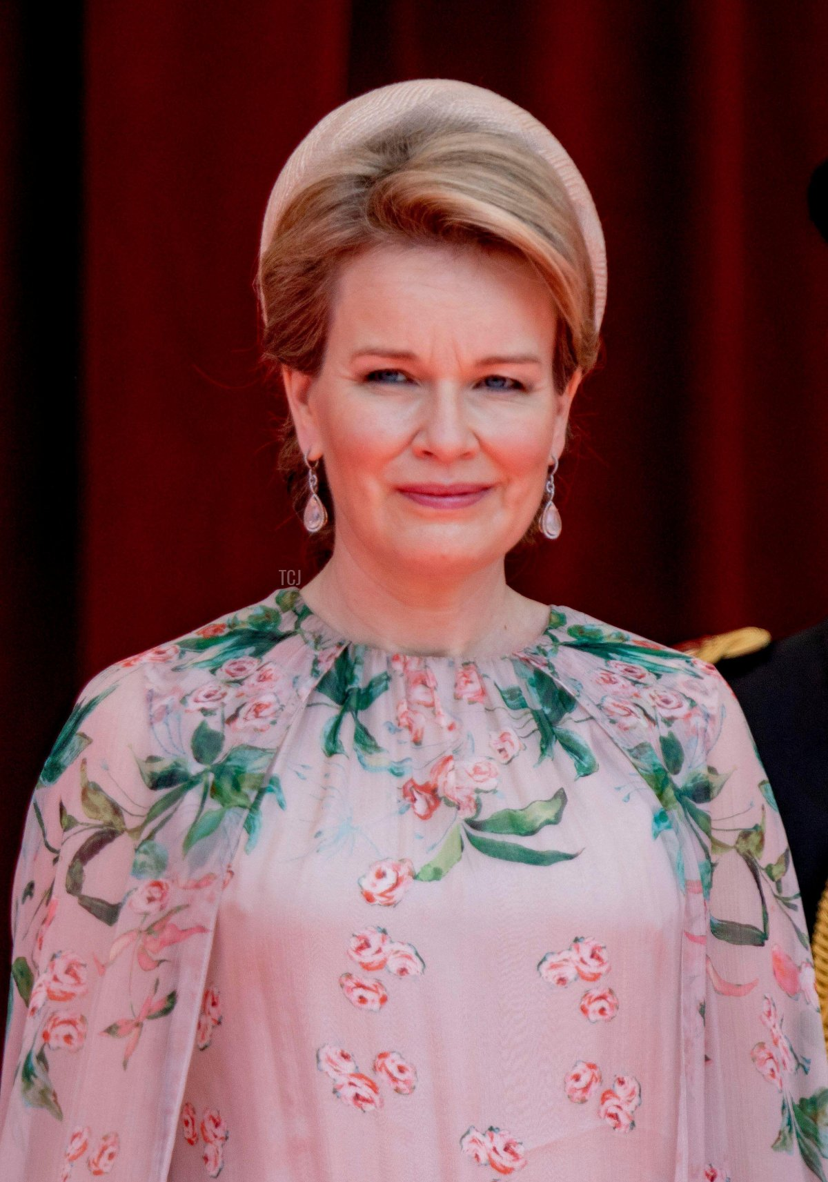 Queen Mathilde attends the military parade in Brussels on National Day, July 21, 2021
