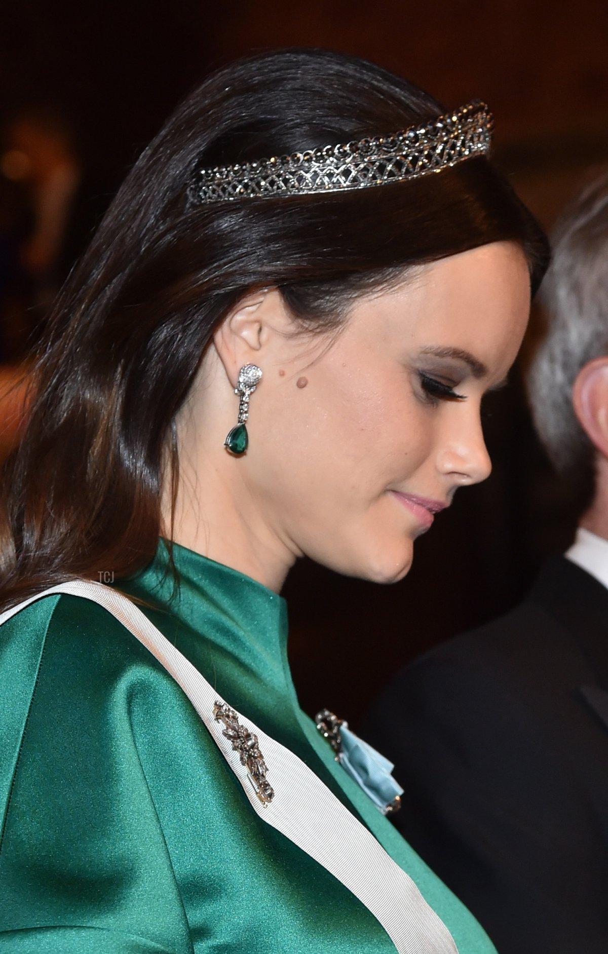 Princess Sofia of Sweden attends the Nobel Prize Banquet 2015 at City Hall on December 10, 2016 in Stockholm, Sweden