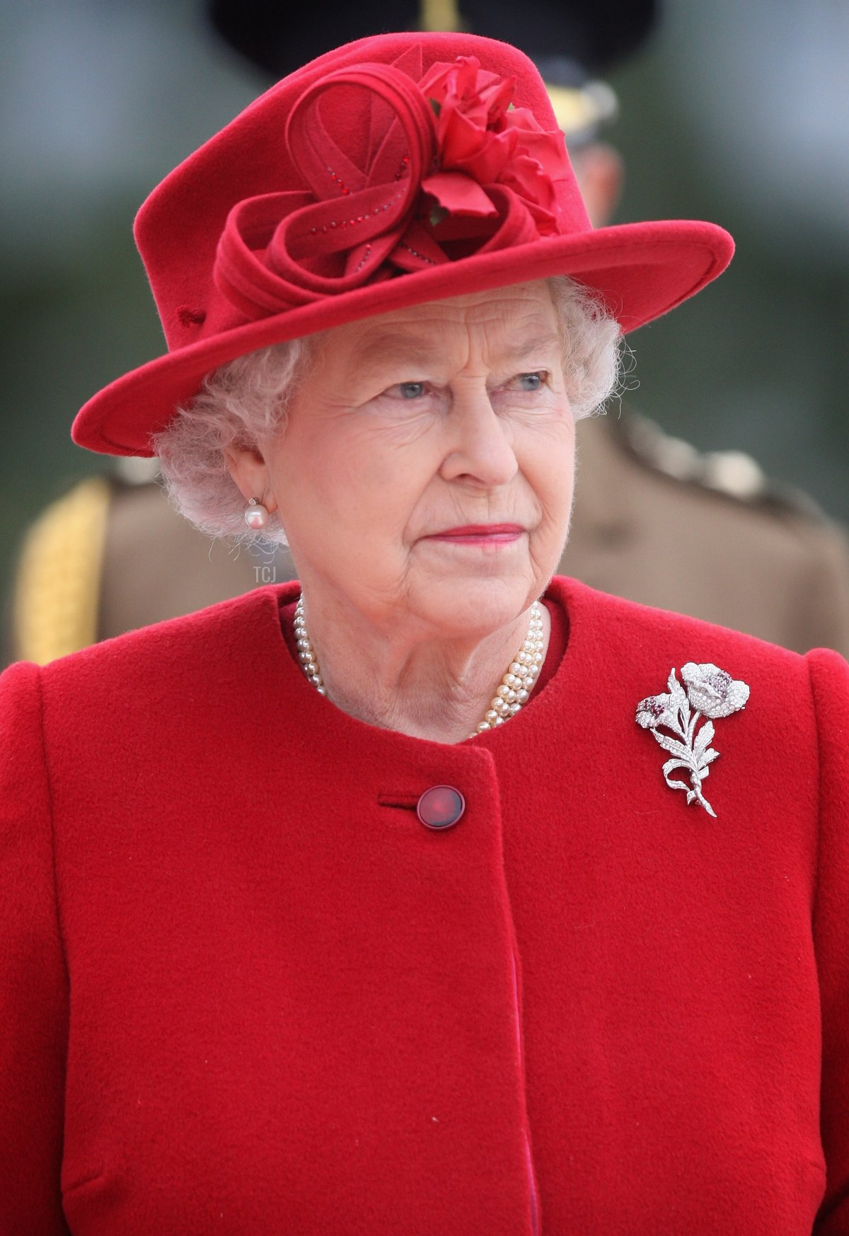 Queen Elizabeth II arrives at the Presidential Palace on the first day of a tour of Slovakia on October 23, 2008 in Bratislava, Slovakia