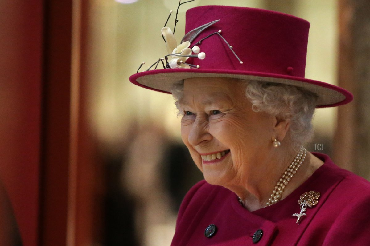 Britain's Queen Elizabeth II gestures at the reopening of the Sir Joseph Hotung Gallery of China and South Asia at the British Museum in central London on November 8, 2017